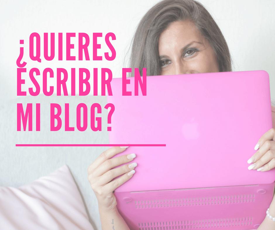 Quieres escribir en mi blog